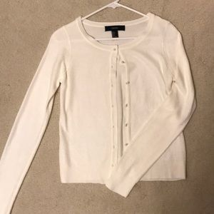 NWOT Forever 21 Soft White/Ivory Cardigan (Small)
